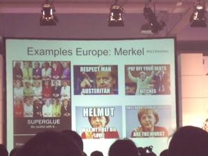 Ein politisches Memen von Angela Merkel